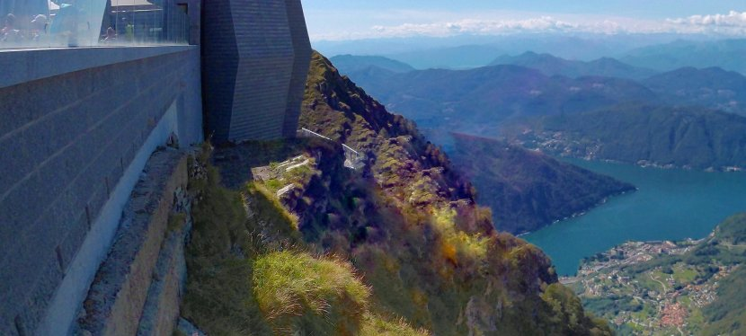 Climbing Monte Generoso in Switzerland